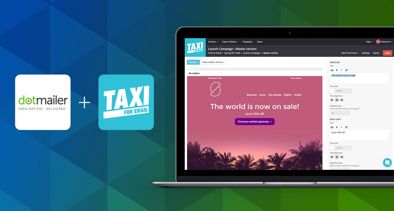 Email Editor & Workflow for Dotmailer | Taxi for Email